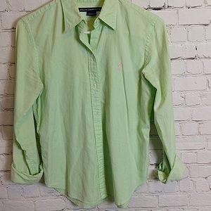 Ralph Lauren button down green shirt